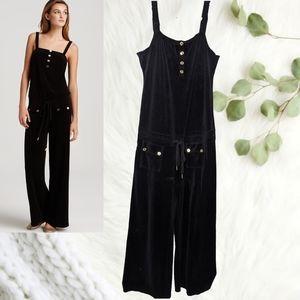 Juicy Couture Black Terry Wide Leg Jumpsuit L